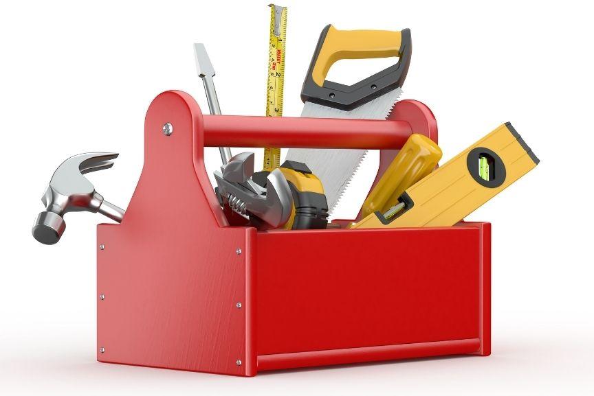 les outils des pompiers du batiments
